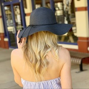 Infinity Raine Accessories - Black Tassel Floppy Hat